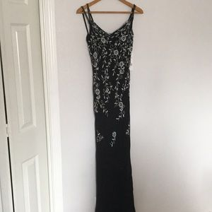 Scala formal dress deep back